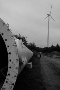 Vinkraftverk på väg till montering